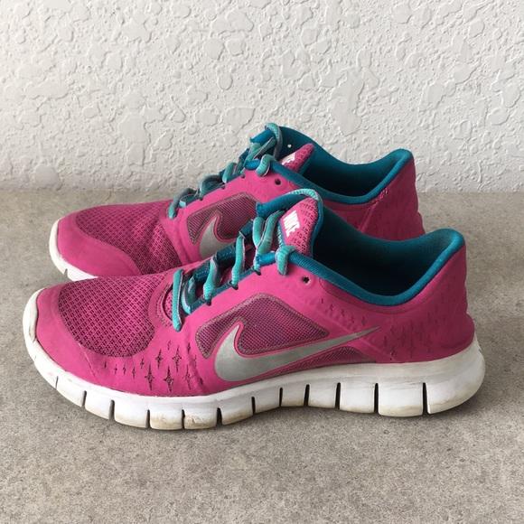Girls Nike Free Run 3 Running Shoes